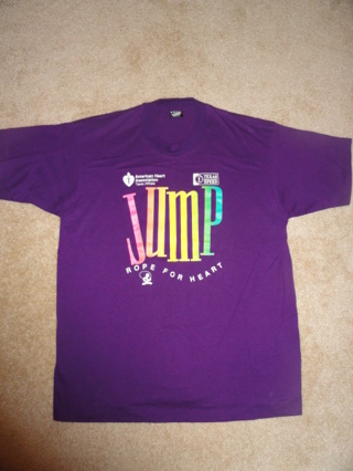 Unisex T Shirt Jump Rope for Heart Sz XLarge (XL)
