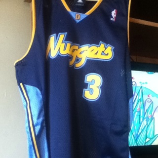 Free  Authentic sewn Allen Iverson Jersey  3 Denver Nuggets ... 17c5415c4613