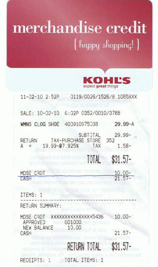 free 10 kohl s merchandise credit like a gift card gift cards