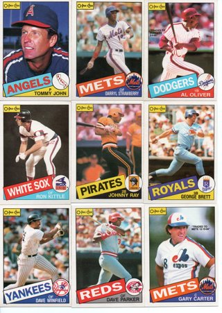(9) 1985 O-pee-chee Baseball Stars