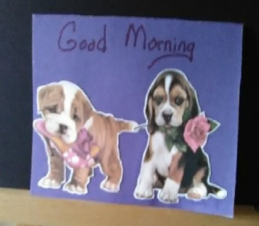 """ Good Morning "" Design Blank Card with Envelope"