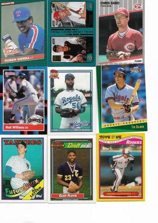 (9) Baseball Rookie Prospect Cards
