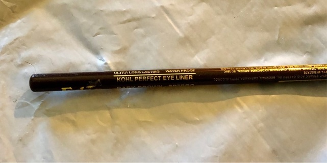 """Brand New: Dark Brown 7"""" Waterproof & Long Lasting Eyeliner Pencil. With Sharpener!"""