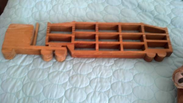 Hot Wheels Toy Car Holder Truck : Free unique wood hot wheels car holder truck display