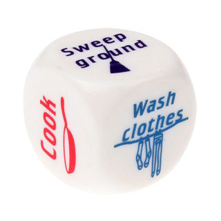 Dice Funny Couples Families Housework Distribution Dice Fun Game