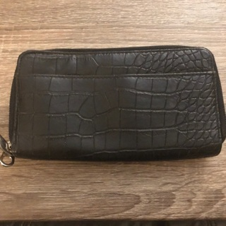 Black Double Zip Wallet