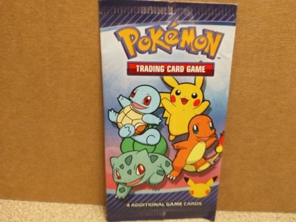 2021- UNOPENED PACK OF POKEMON 4 CARDS McDONALDS COLLECTION 25 the ANNIVERSARY