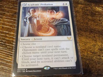 Magic the gathering mtg Academic Probation rare card Strixhaven