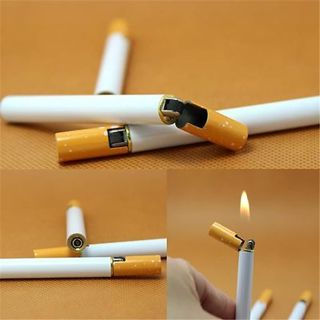 One Windproof Jet Flame Cigarette Shaped Cigar Lighter Refillable Butane Gas