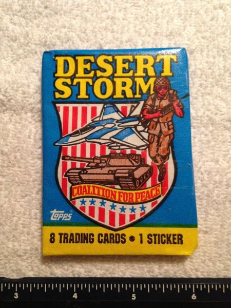 Free: 1991 TOPPS DESERT STORM COALITION FOR PEACE PACKS WITH 8 CARDS & 1 STICKER - Other Trading ...