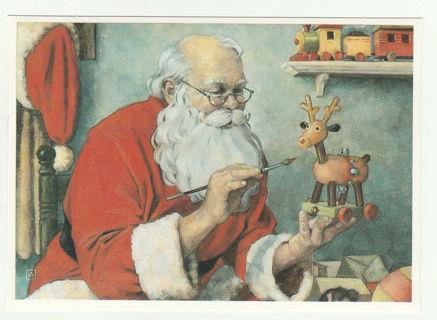 Vintage Santa Christmas Post Card Unused