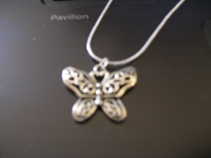 Butterfly Necklace .925 silver chain