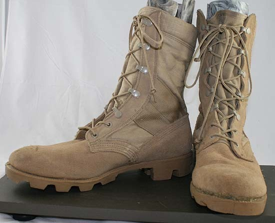 Free Used Altama Desert Storm Leather Lace Up Combat Boots Army Issued Made In Usa Men S