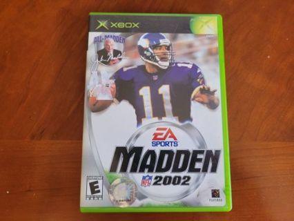 Xbox EA Madden 2002