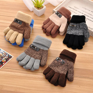[GIN FOR FREE SHIPPING] Children Warm Knitted Gloves Winter Thick