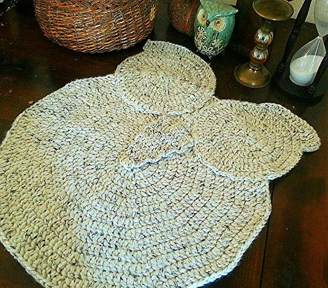 Crochet Owl Rug Pattern: Free: Crochet Owl Rug Pattern
