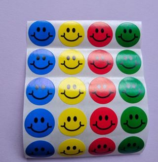Vintage Smiley Face Stickers
