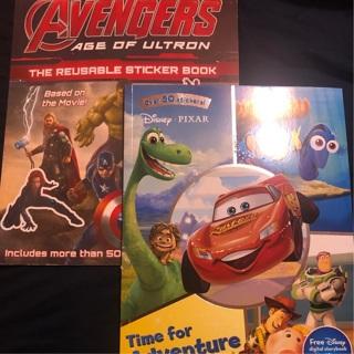 Marvel & Disney sticker and activity books