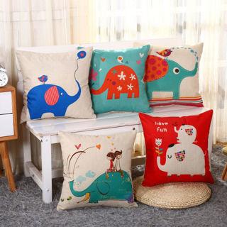 Waist Cotton Linen Pillow Cush Throw Cushion Covers Home Elephant Decor