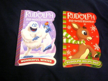 2 Rudolph the Red Nose Reindeer Hard Page Books