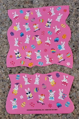 EASTER STICKERS 2 SHEETS LOT 2