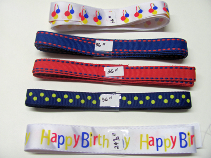 LOOK Different Birthday Ribbons