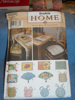 Simplicity Home pattern place mats and chair pads