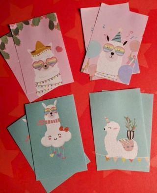 kawaii Llama Memo Sheets