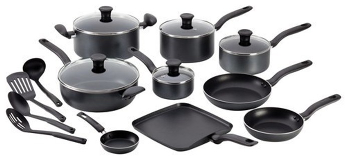 T-Fal - Initiatives 18-Piece Cookware Set - Gray - Christmas is Coming!