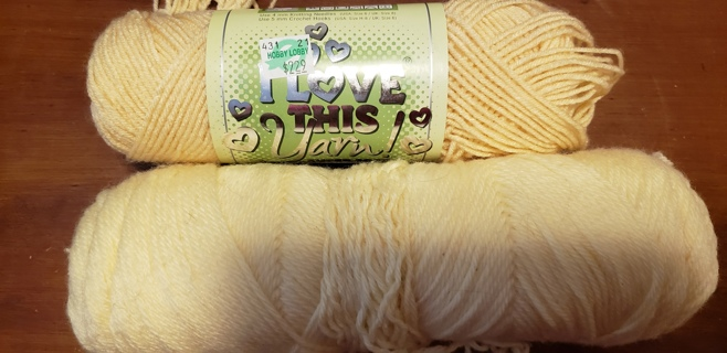 "NEW - I Love This Yarn! - ""Cream"" & EXTRA"
