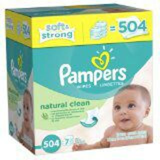 WIN (1) 7X PAMPERS NATURAL CLEAN WIPES BOX (504CT) FREE SHIPPING