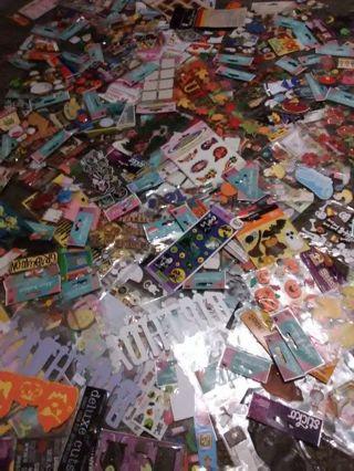 Mixed Lot of 5 BNIP Halloween Packs, Scrapbooking Stickers