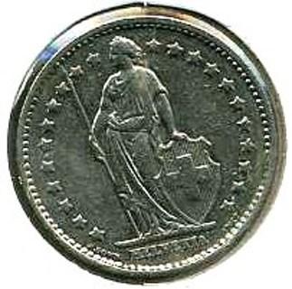 1 Fr 1989 Helvetia Coin Switzerland
