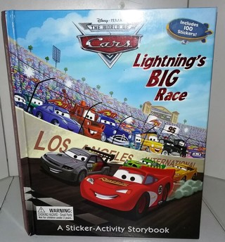 "2010 Disney/Pixar ""The World of Cars"" hardcover 12-page sticker book with 100 removable stickers"