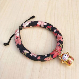 Pets Accessories Printed Japanese Style For Dog Cat Collar Necklace Adjustable