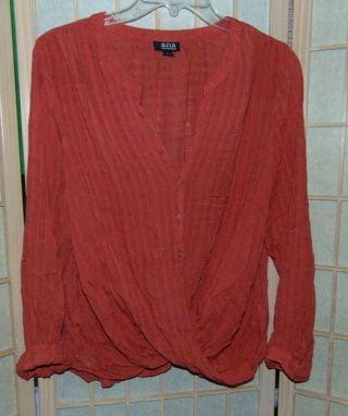 A.N.A Crossbody Gorgeous Blouse Top Shirt - Womens Large