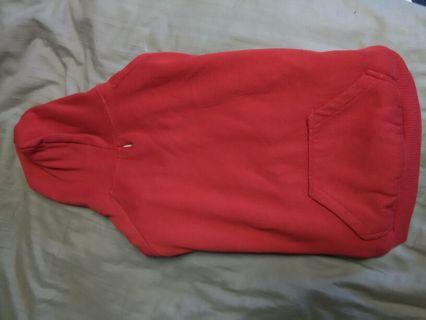 Red size Lrg. Dog hoodie
