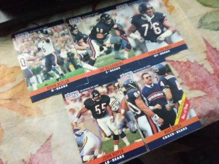 5 - 1990 NFL Pro Set (Series 1) Chicago Bears Football Cards