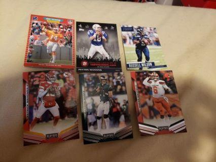 NFL Quarterback 6 card lot