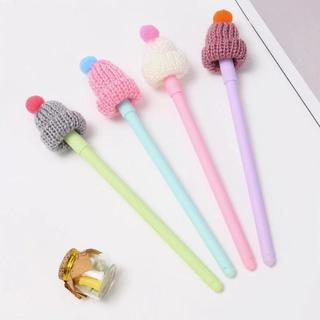 Color Hat Shape Shell Gel Pen DIY Office Stationery and School Supplies Smooth Writing Black and B