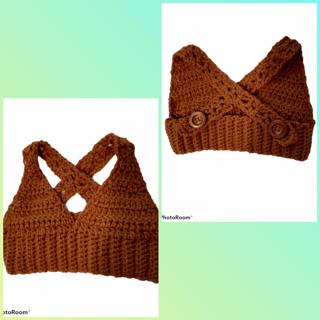 Crochet baby crop top