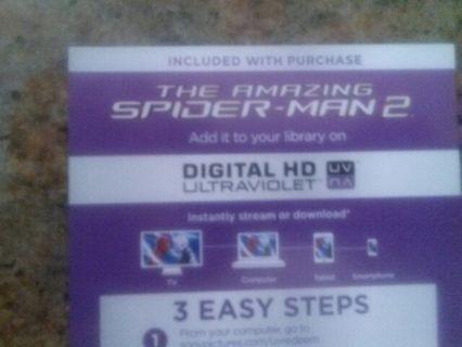 The amazing Spider-Man 2 Uv code