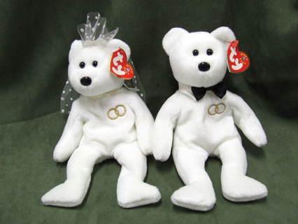 Free  TY Original Beanie Babies Mr and Mrs Bear - Dolls   Stuffed ... 4f688e44610