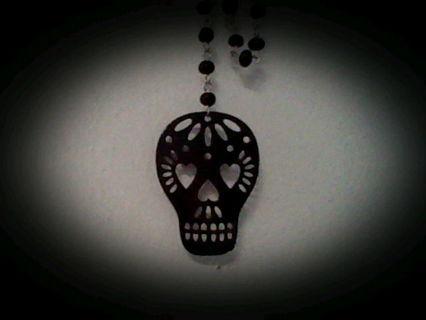punk skull neckless