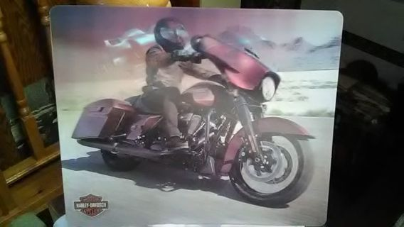 """NICE 8"""" BY 7"""" HARLEY DAVIDSON HOLOGRAPHIC PHOTO VERY NICE. A MUST HAVE"""