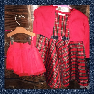 ❣️18/24 Holiday Dress & Tutu Skirt❣️Cute❣️