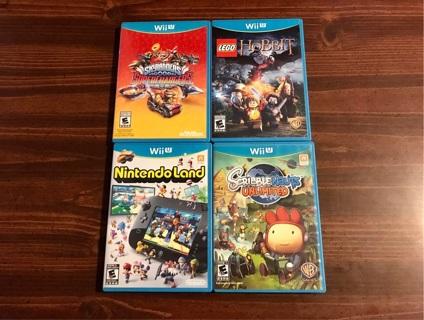 4 Nintendo Wii U Games