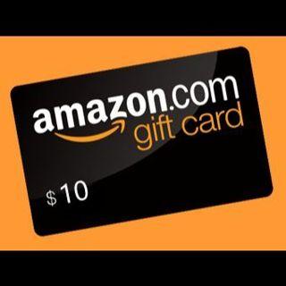 10 Dollars Amazon Gift Card. $10 Gift Card.
