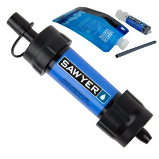 Sawyer Products Mini Water Filtration System - Filters Up to 100,000 Gallons-Survival Tool