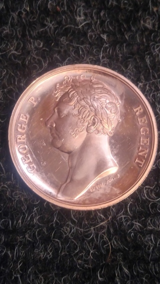 Rare Medal George P. Regent Wellinton Waterloo June 18th 1815 UNC Token